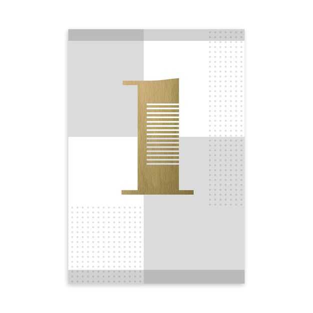 Gold & Silver 1-Year Work Anniversary Card