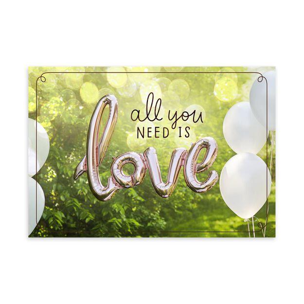 Love Balloons Wedding Card