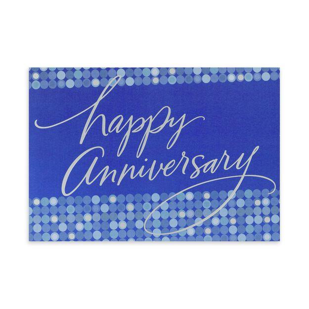 Silver & Blue Dots Work Anniversary Card