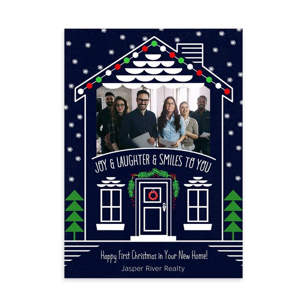 House Filled with Joy, Laughter Holiday Photo Card