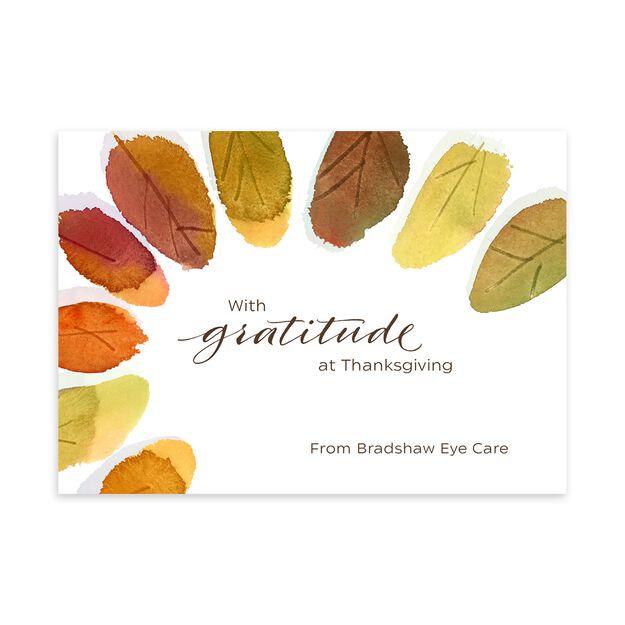 Autumn Leaves Customizable Thanksgiving Card