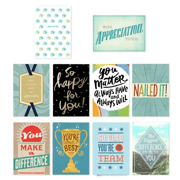 Star Qualities Assorted Employee Appreciation Cards 75 Pack