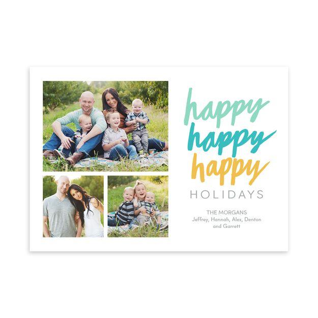 Happy, Happy, Happy Holidays Multi Photo Card