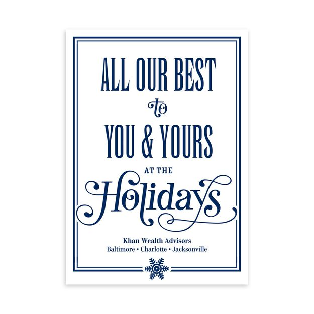 Our Best to You Customizable Holiday Card