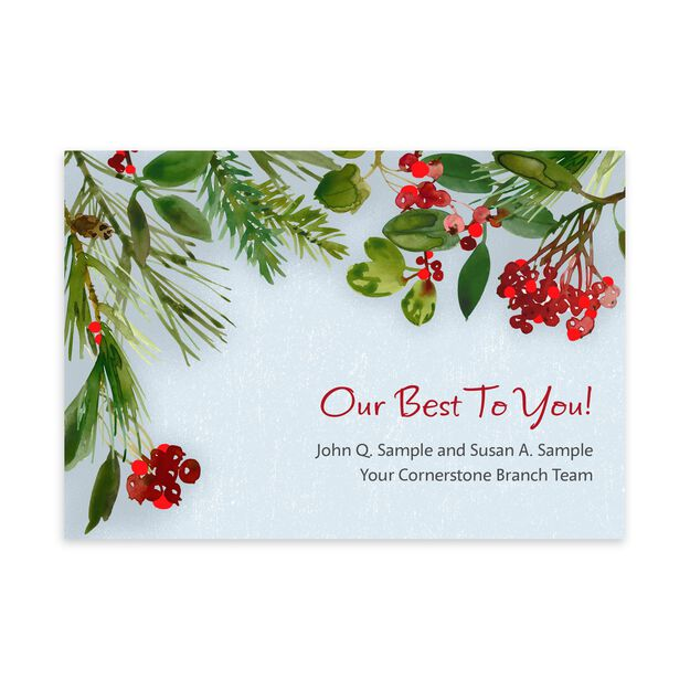 Holly & Pines Customizable Cover Holiday Card