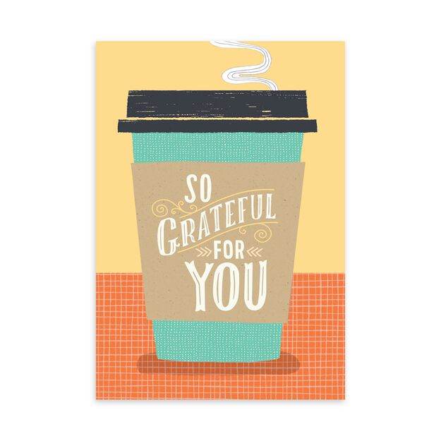 Coffee Cup & Grateful Boss's Day Card