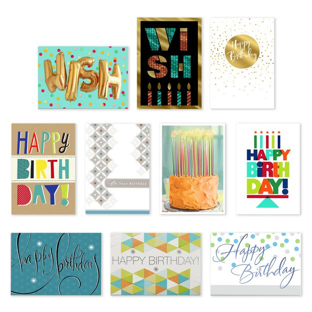 Classic Collection Assorted Birthday Cards 50 Pack