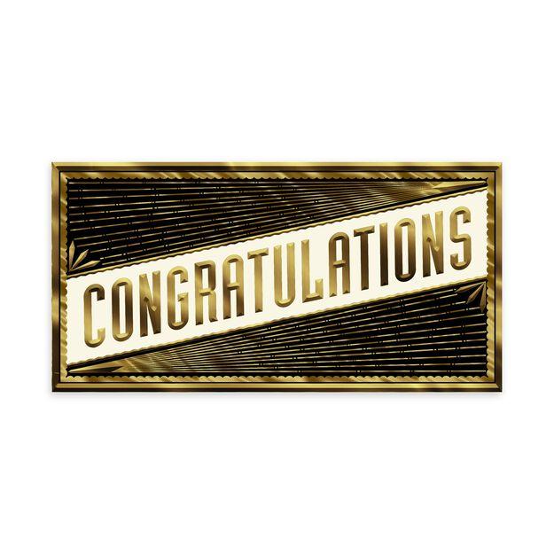 Slender Gold Elegance Congratulations Card