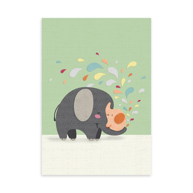 Paper Elephants New Baby Card
