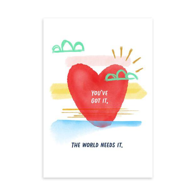 World Needs More You Appreciation Card