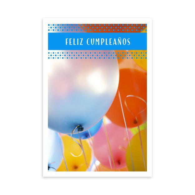 Feliz Cumpleaños & Balloons Spanish Birthday Card