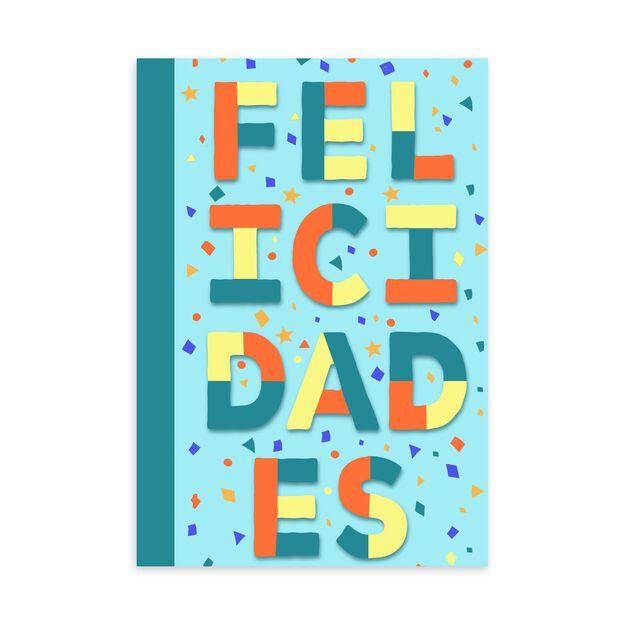 Colorful Felicidades Spanish Congratulations Card