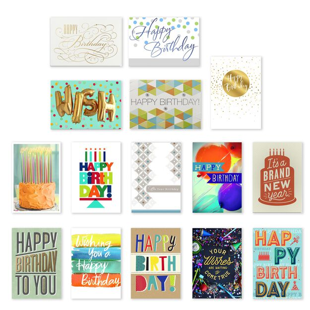 Classic & Casual Assorted Birthday Cards 75 Pack