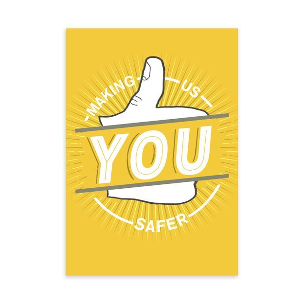 Thumbs Up Safety Appreciation Card