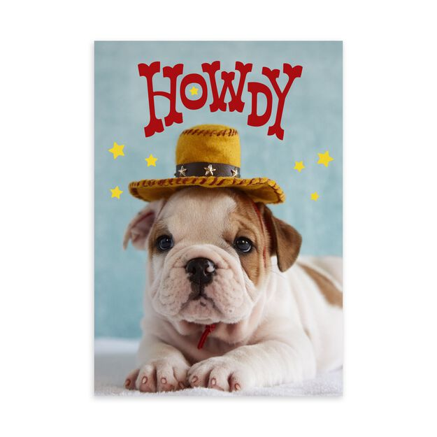 Puppy Howdy Just Because Card