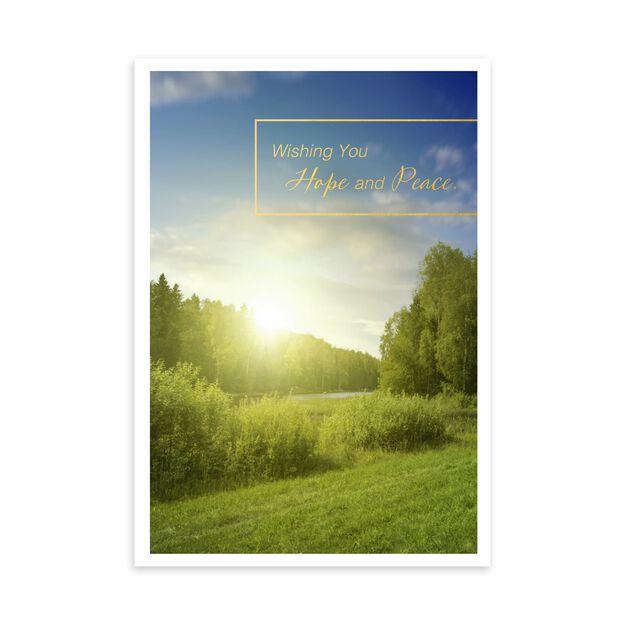 Hope & Peace Sunrise Sympathy Card