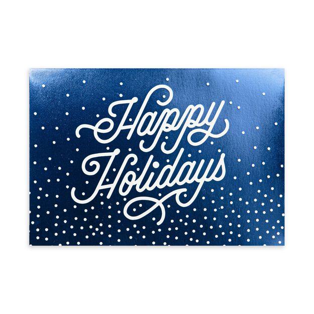Shining Blue Happy Holidays Card