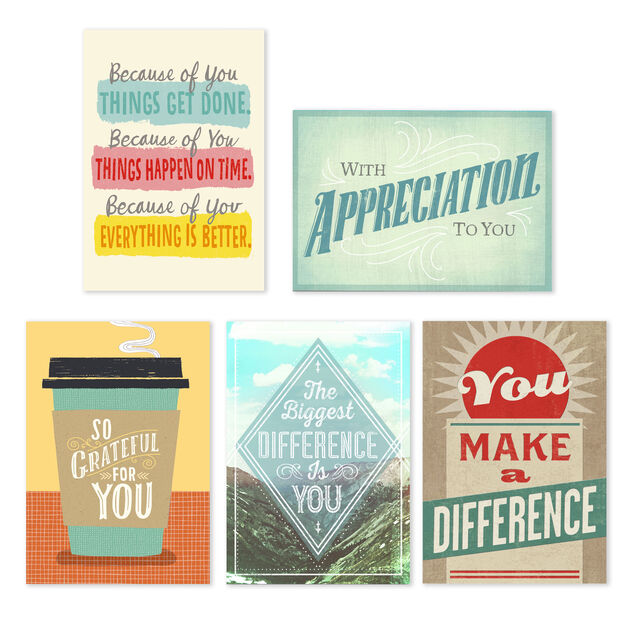 Star Qualities Assorted Employee Appreciation Cards 25 Pack