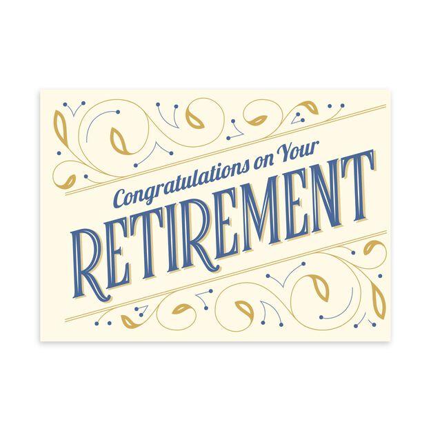 Elegant Congratulations Retirement Card