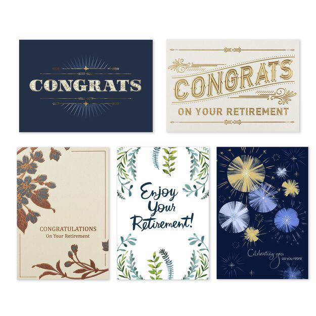 Assorted Retirement Cards 25 Pack