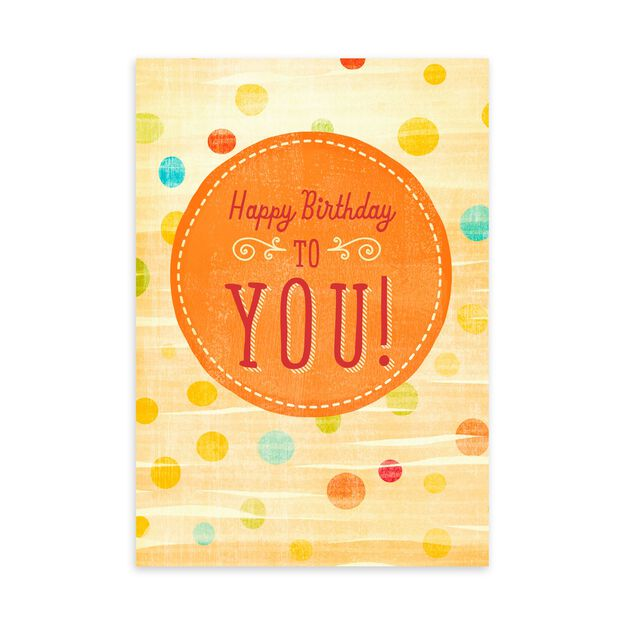 Cheery Orange Spot Birthday Card
