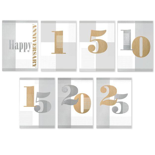 Milestone Years Assorted Work Anniversary Cards 25 Pack