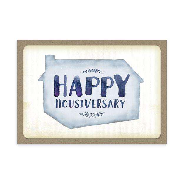 Housiversary Watercolor Home Anniversary Card