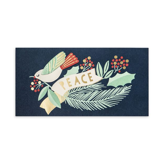 Dove & Golden Peace Holiday Card