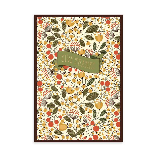 Fall Botanicals Thanksgiving Card