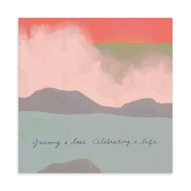 Celebrating a Life Sympathy Card