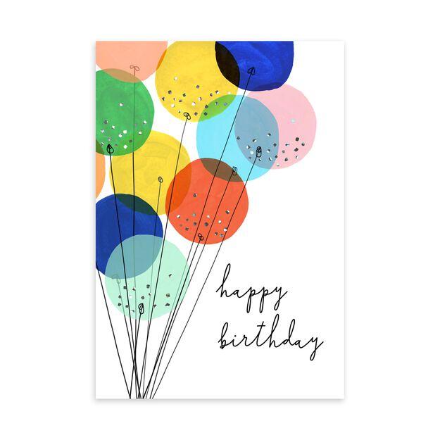 Chic Balloon Bouquet Birthday Card