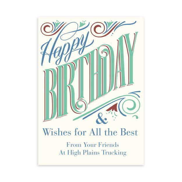 All the Best Customizable Birthday Card