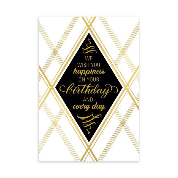 Gold Diamond Elegance Birthday Card