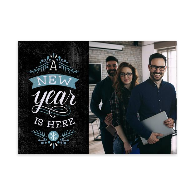 A New Year Is Here New Year Photo Card