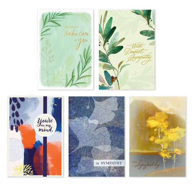 Assorted Sympathy & Thinking of You Cards 25 Pack