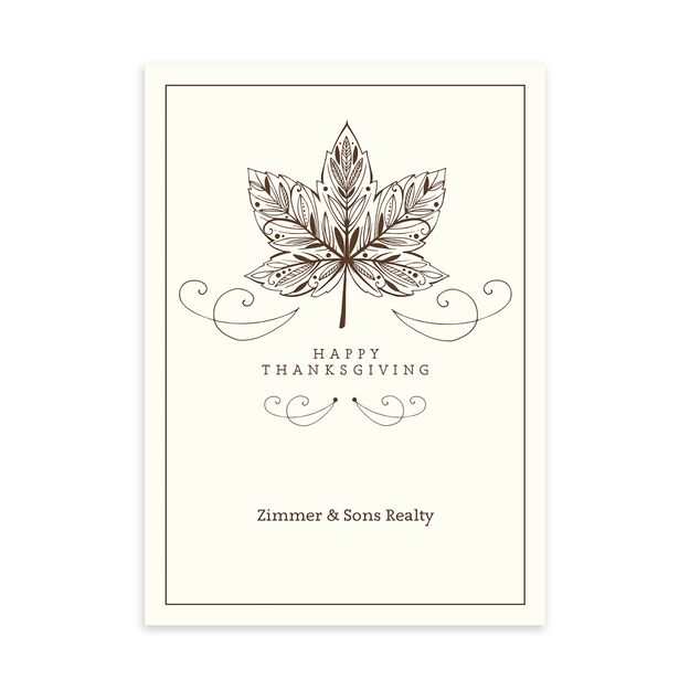 Maple Leaf Customizable Thanksgiving Card