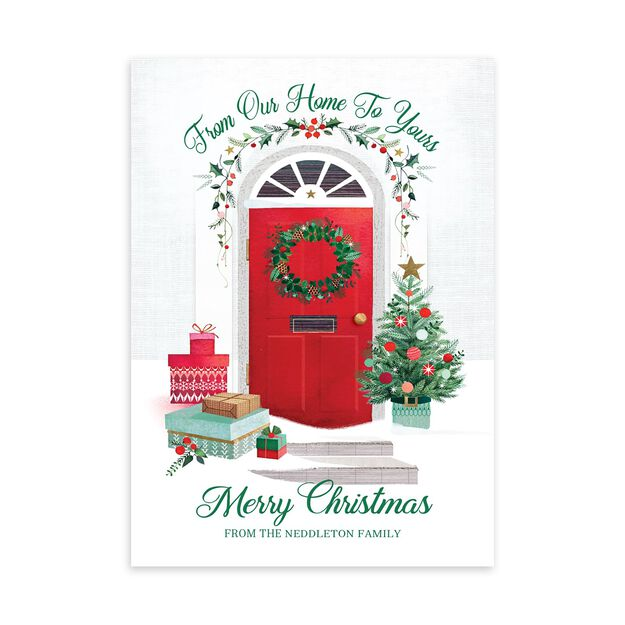 Our Home to Yours Customizable Christmas Card