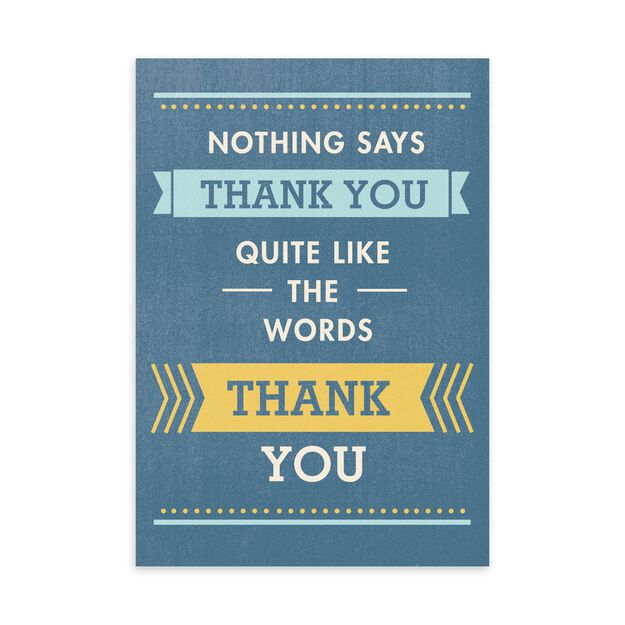 Straight & Simple Thank You Card
