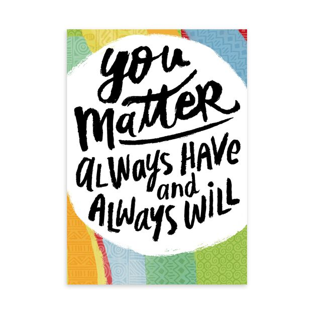 You Matter Lettering Appreciation Card