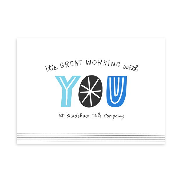 Great Working With You Customizable Anniversary Card