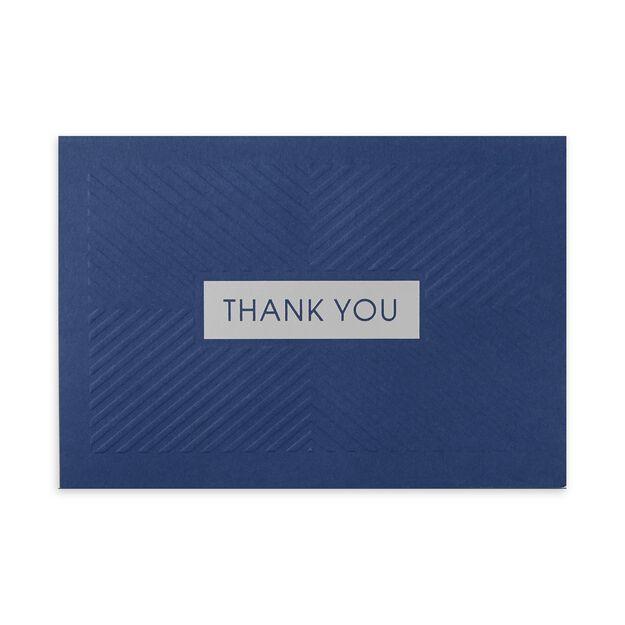 Blue Embossed Chevron Premium Thank You Card