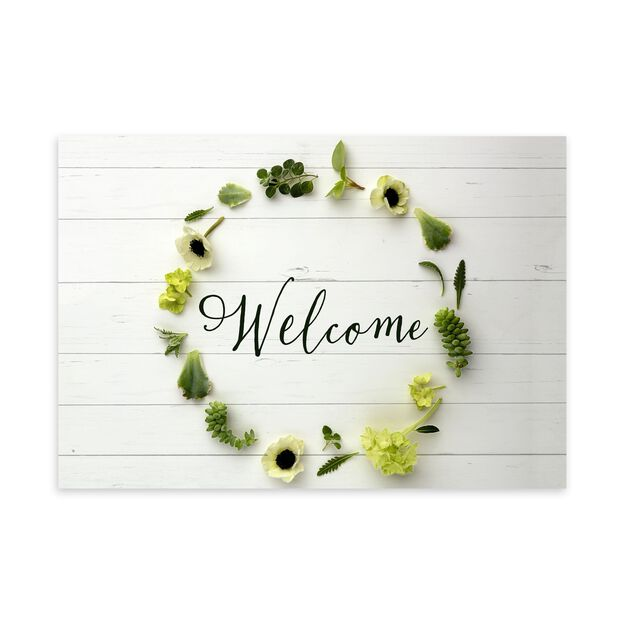 Floral Wreath Welcome Card