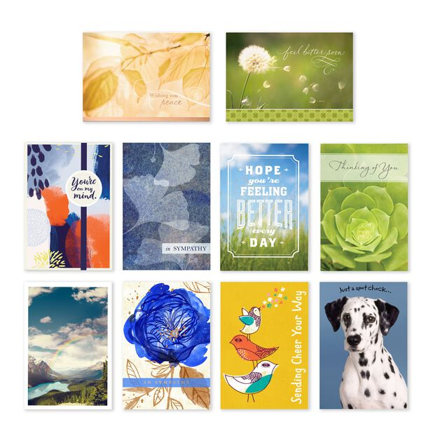 Assorted Encouragement, Get Well & Sympathy Cards 50 Pack