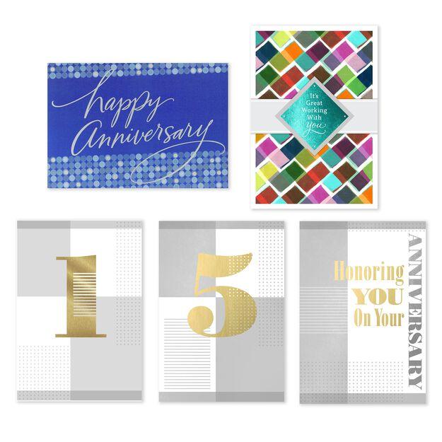Milestone & General Assorted Work Anniversary Cards 50 Pack