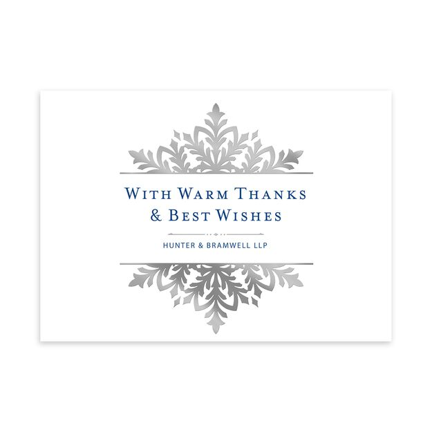 Ornate Shimmering Snowflake Customizable Holiday Card