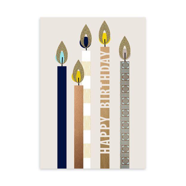 Shining Stylized Candles Birthday Card