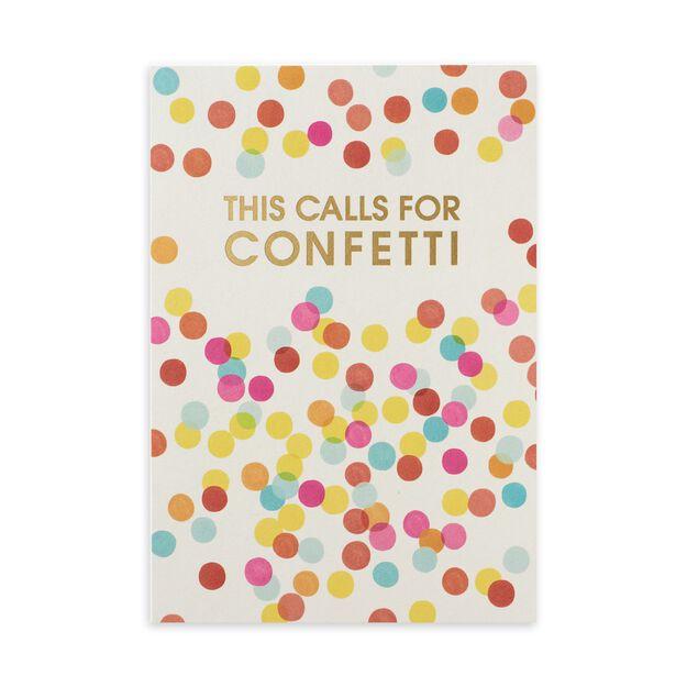 Colorful Confetti & Gold Congratulations Card