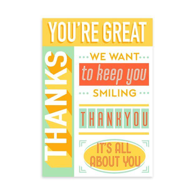 Keep You Smiling Customer Appreciation Card