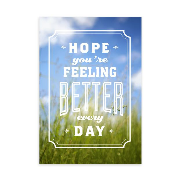 Better Every Day Get Well Card
