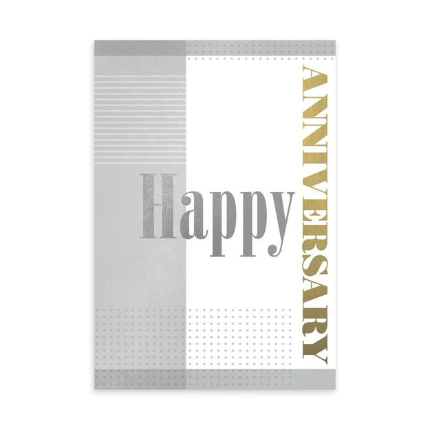 Gold & Silver Work Anniversary Card